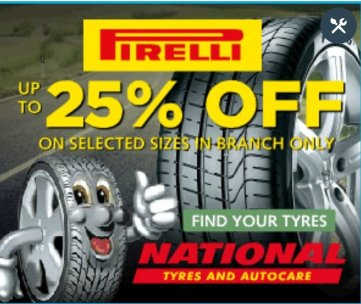 Up to 25% off Pirelli